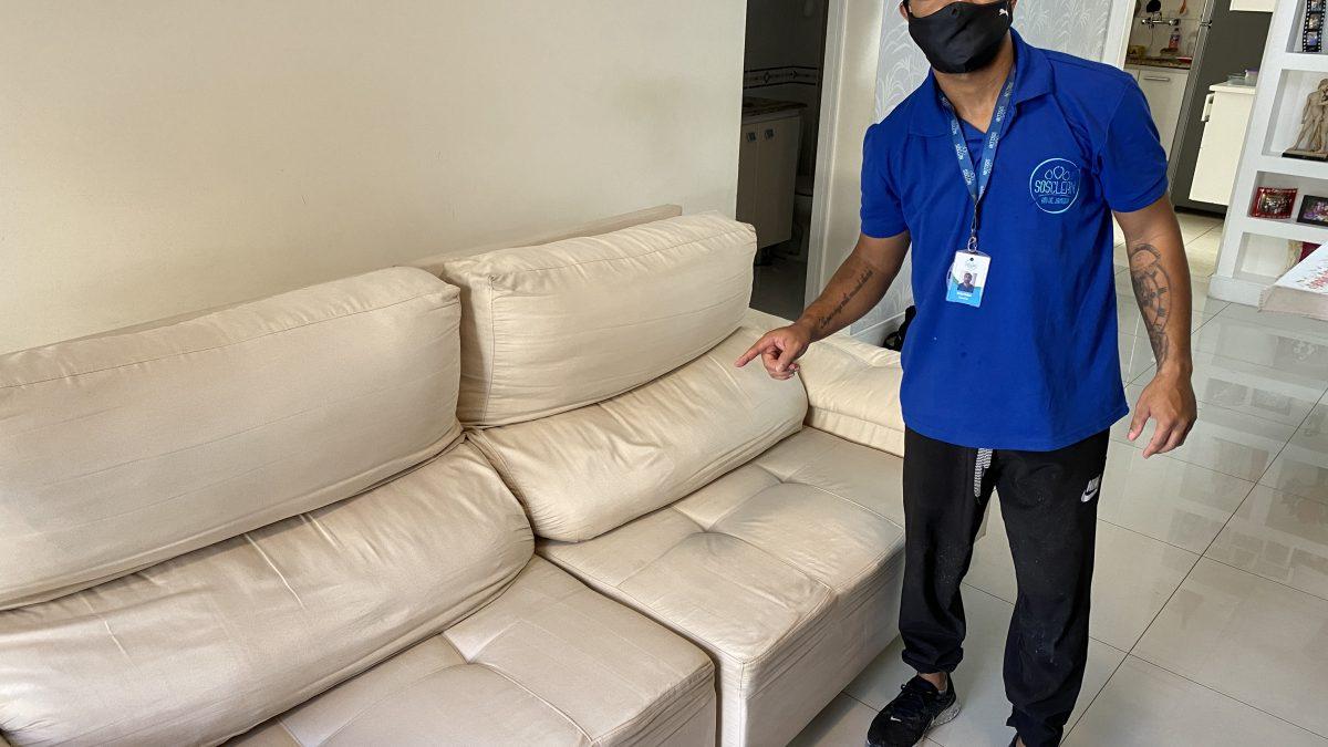 Limpeza e impermeabilização de sofá